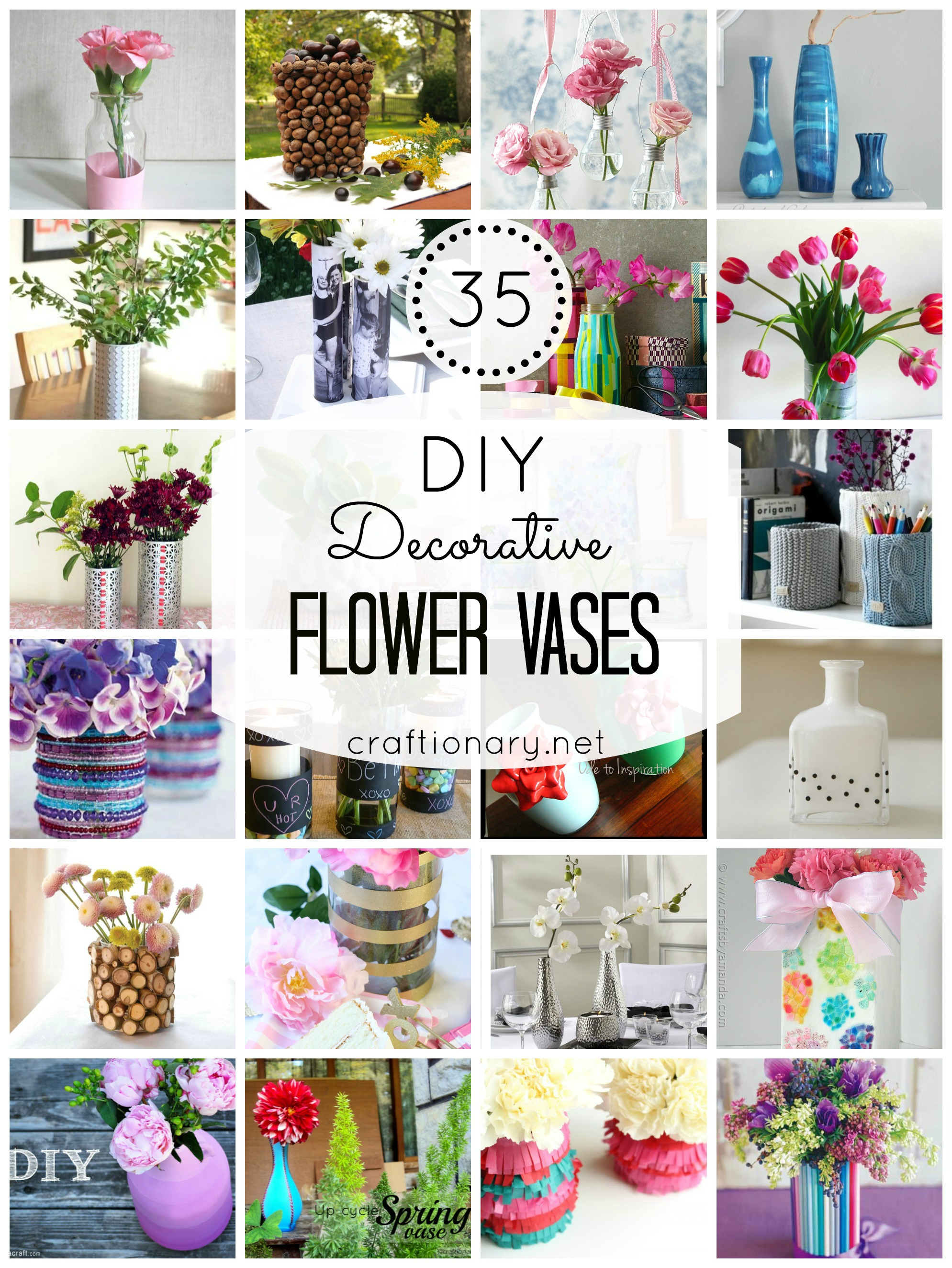 So I Decided To Share Some Super Creative Ways Make DIY Vases Found 35 Tutorials Flower That Are Crafty And Clever