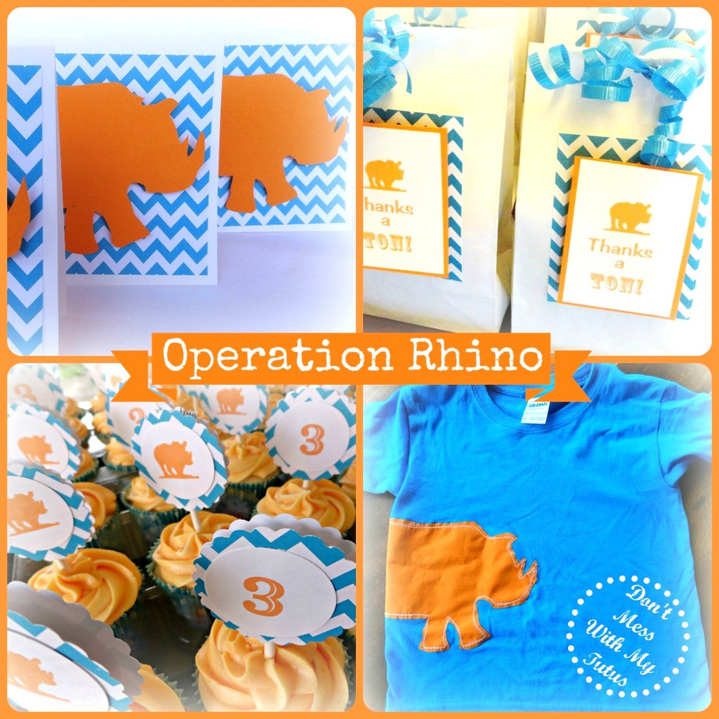 operation rhino party theme