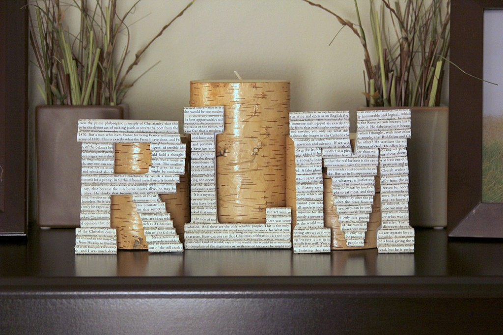 paper covered letters