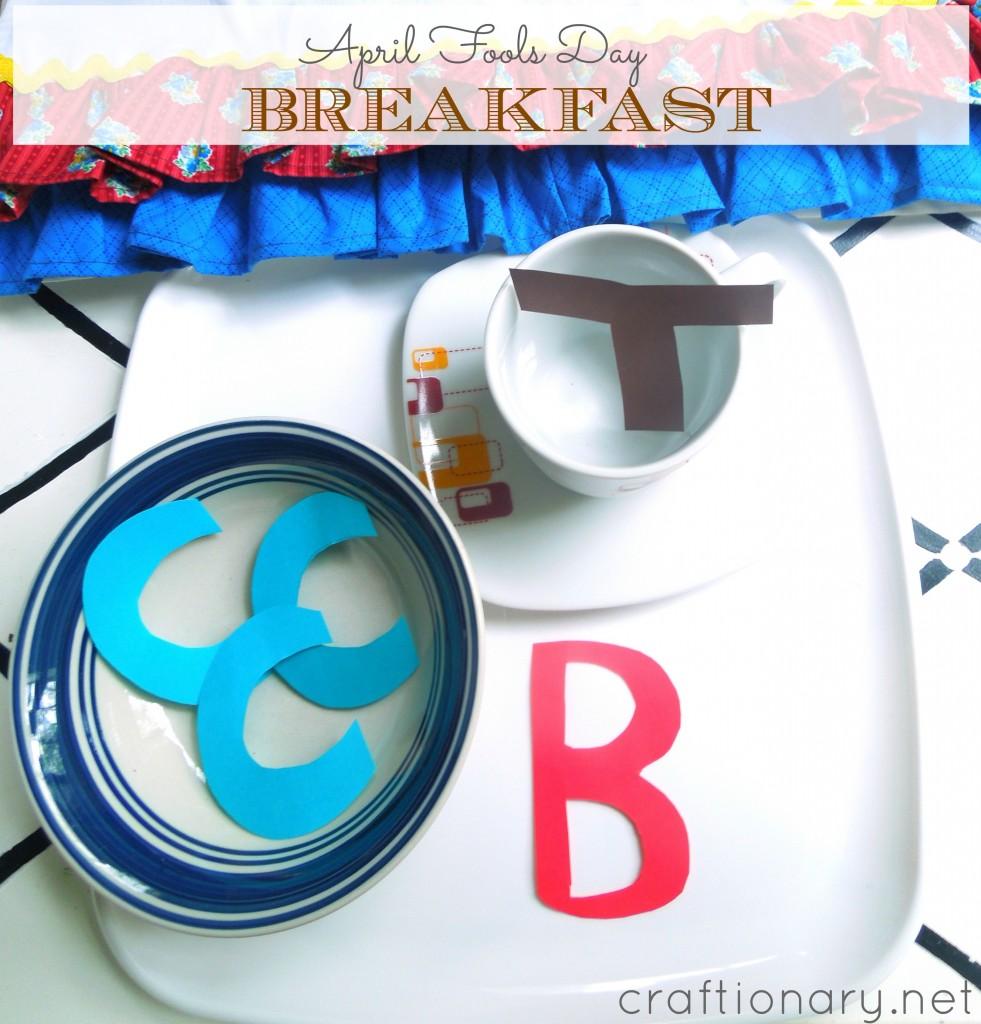 April fools day breakfast