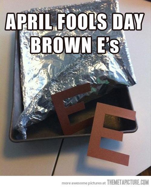 april fools day brownie