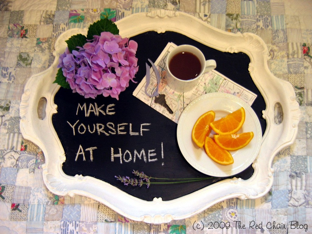 chalkboard paint tray
