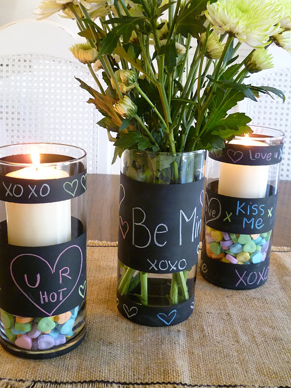chalkboard paint vases gift - Vase Design Ideas