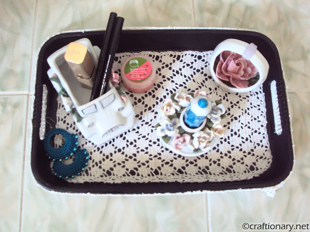 crochet DIY tray