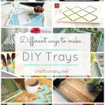 decorative DIY trays