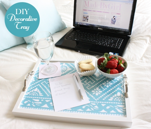 decorative fabric tray
