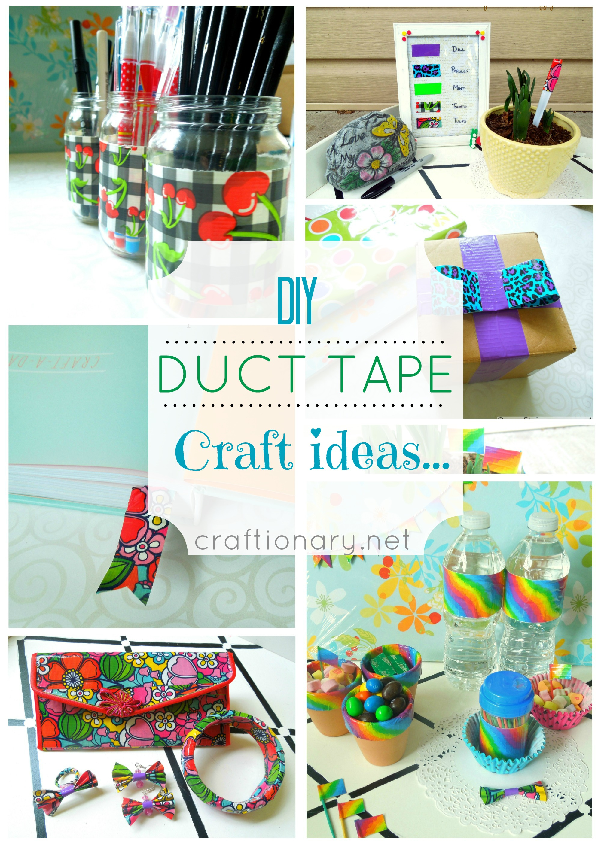 At Duct Tape Crafts - We provide you new and easy DIY duct tape projects and tutorials. DIY duct tape wallet, duct tape flowers, dress and uses ideas.