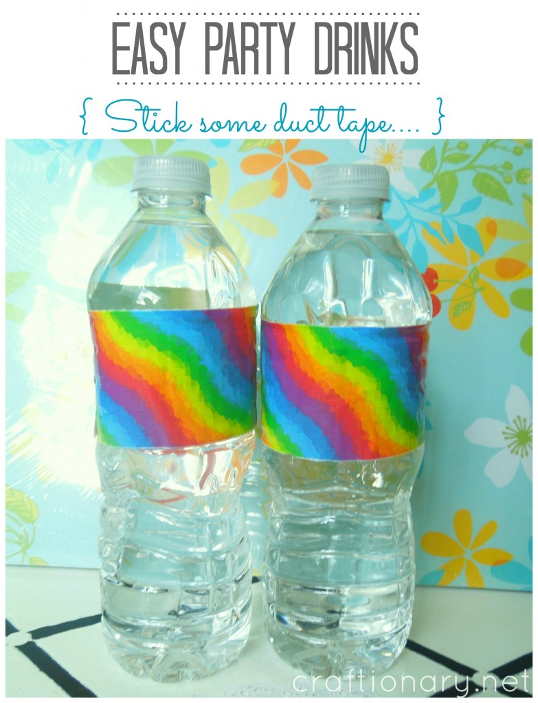 duct tape party bottles