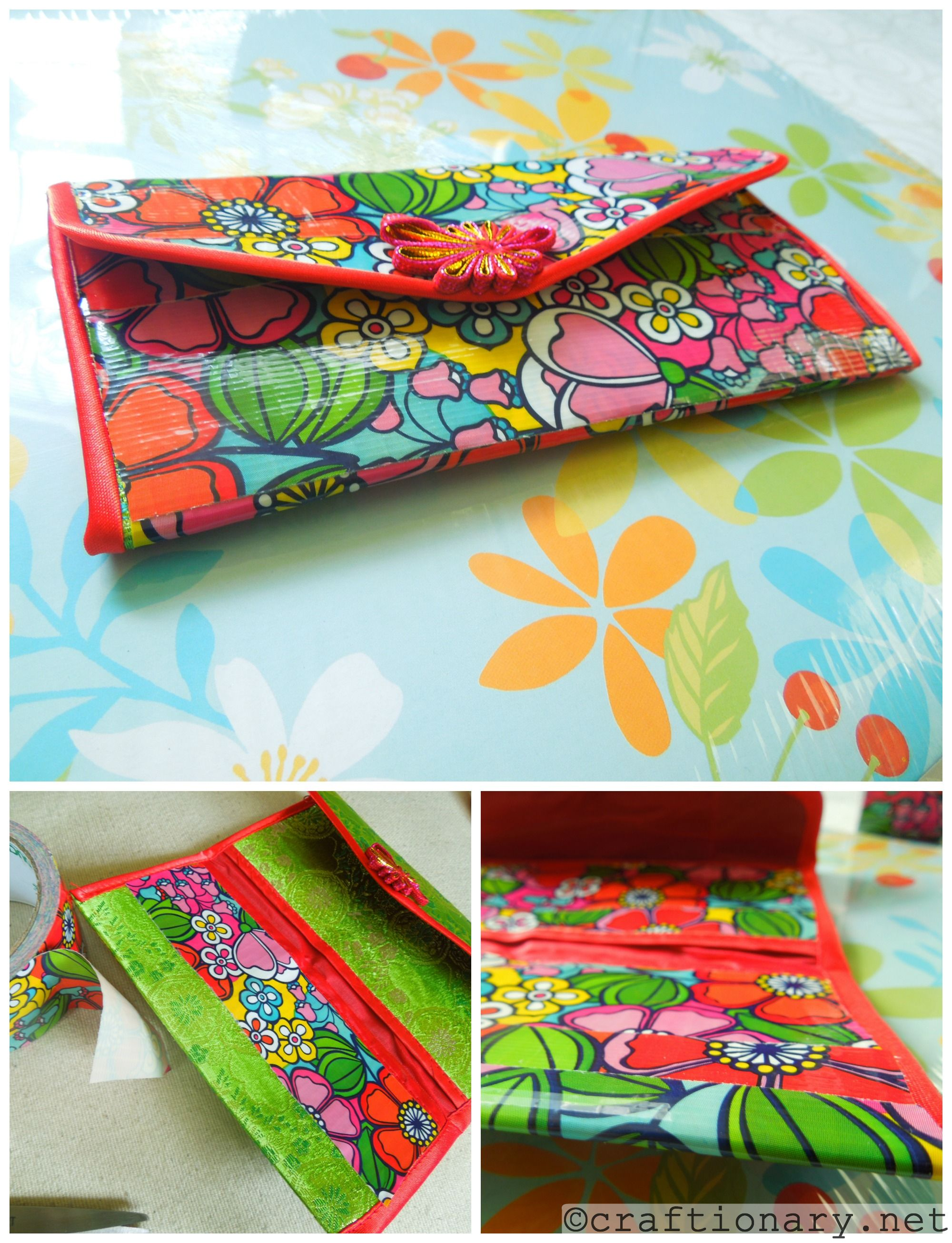 picture relating to Duct Tape Wallet Instructions Printable named Craftionary