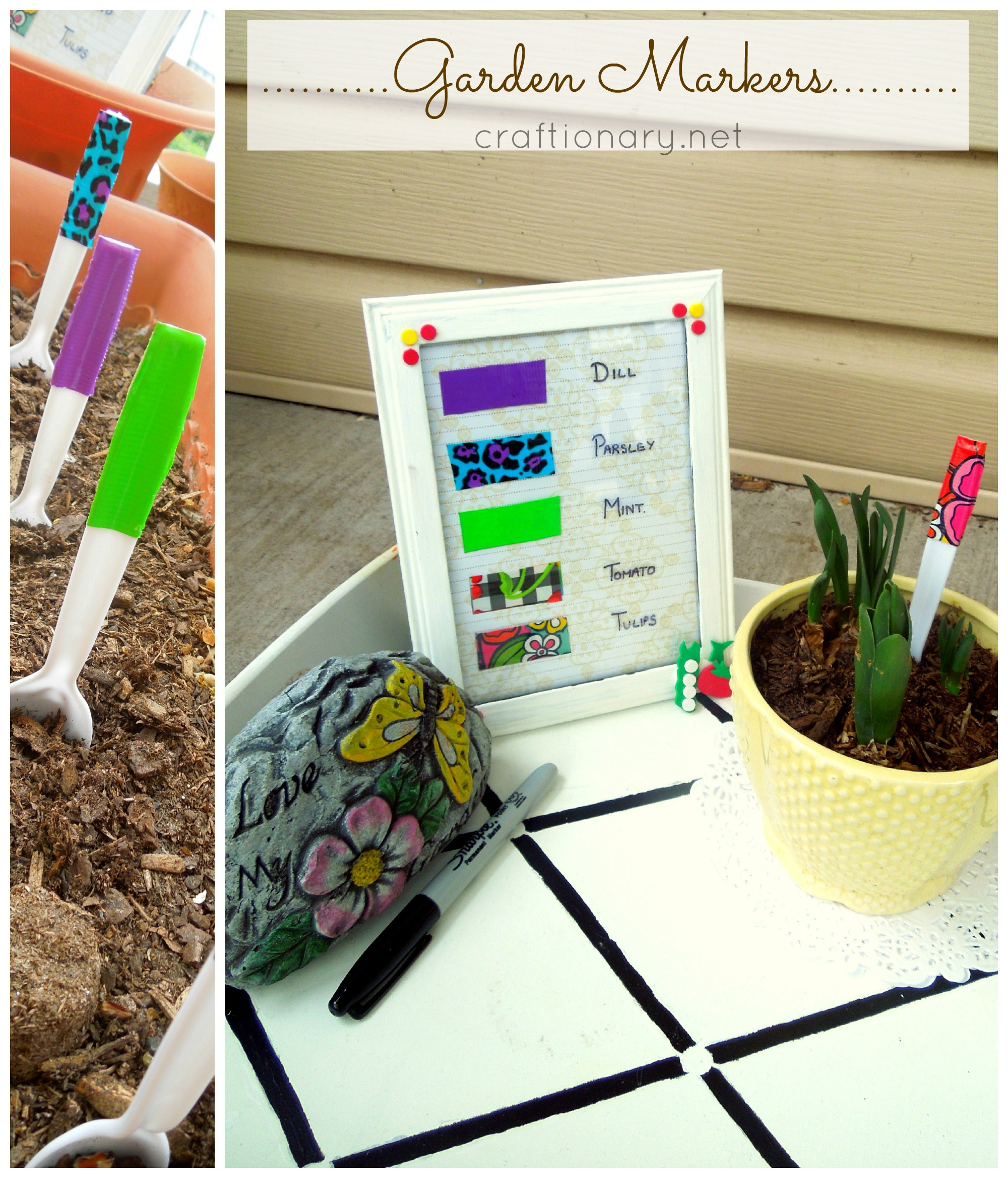 Duct Tape Garden Markers