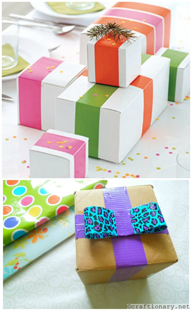 duct tape gift wraps