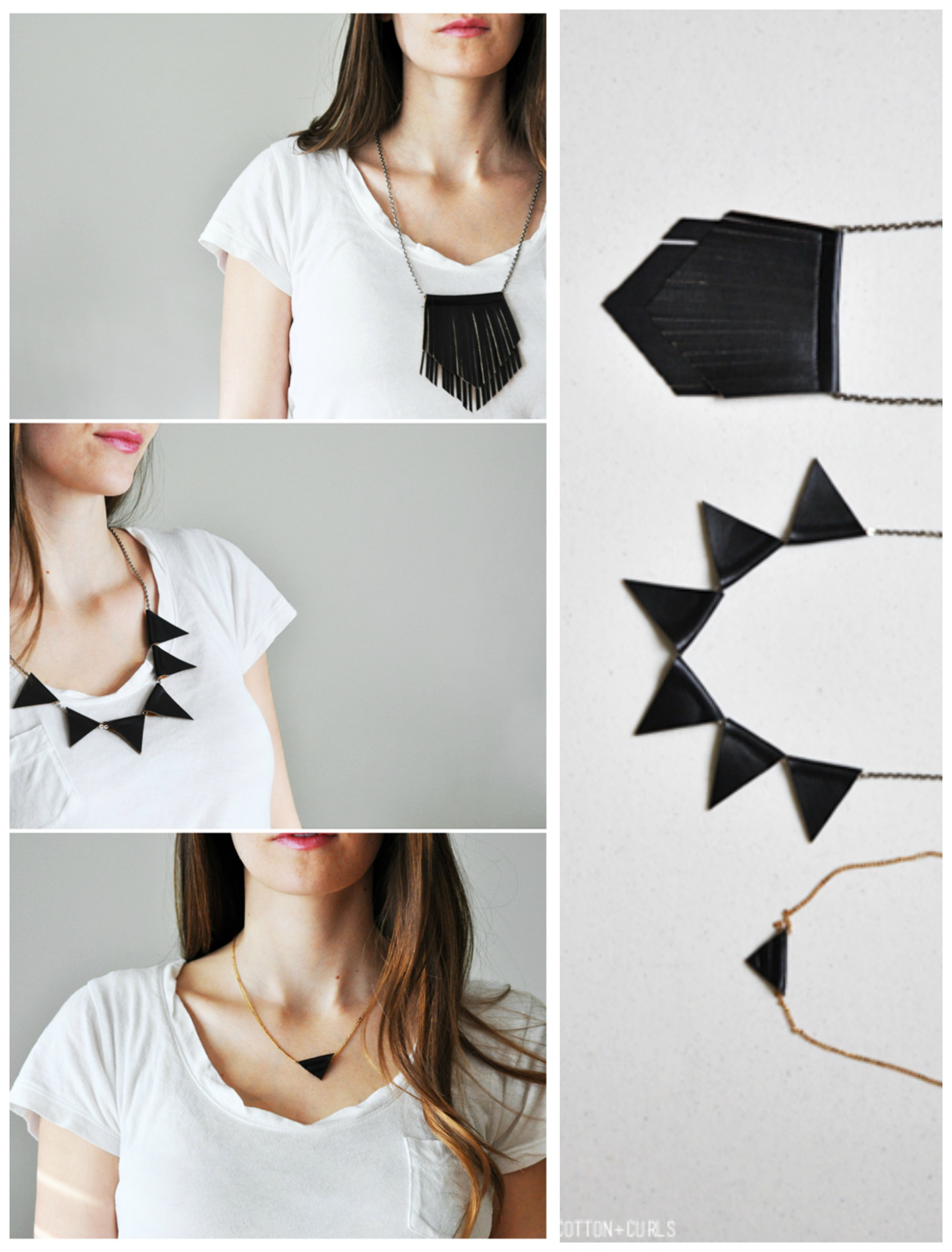 duct mad necklace and necklaces in clip paper tape crafts