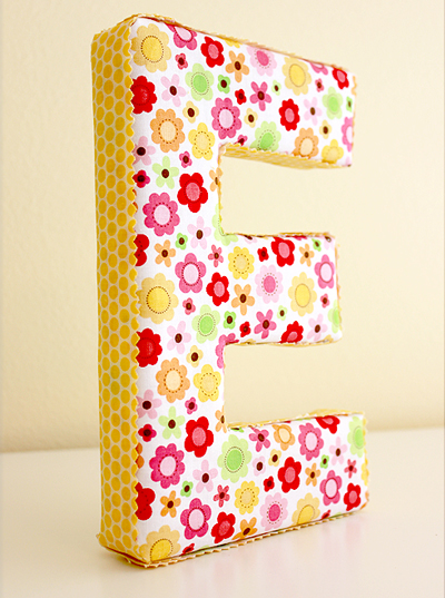 fabric covered letters tutorial