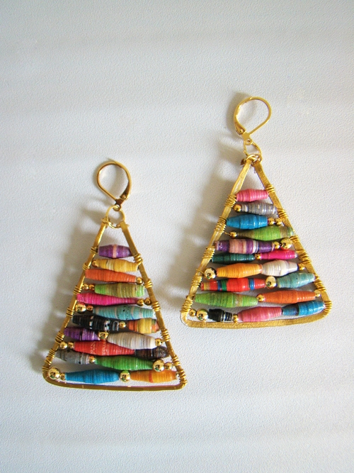 handmade gift DIY earrings