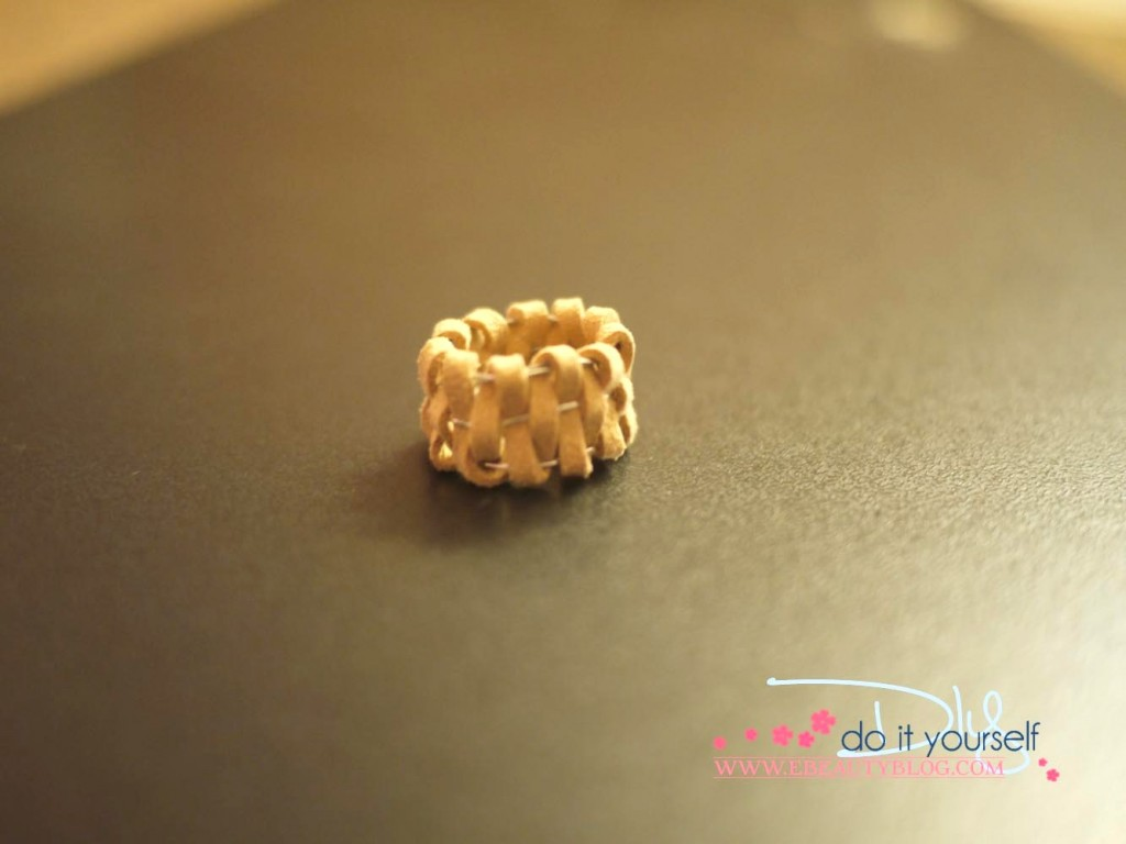 handmade gift leather ring