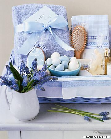 handmade gift spa basket