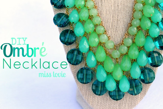 handmade ombre necklace