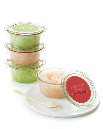 homemade gift body scrub
