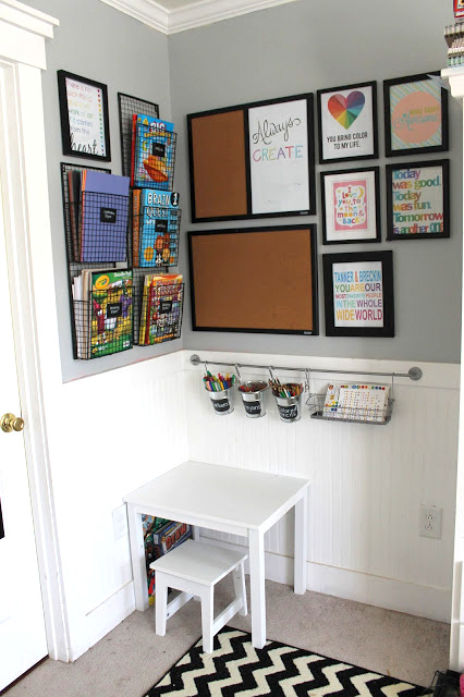DIY kids art space