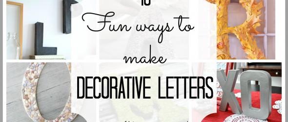 make decorative letters