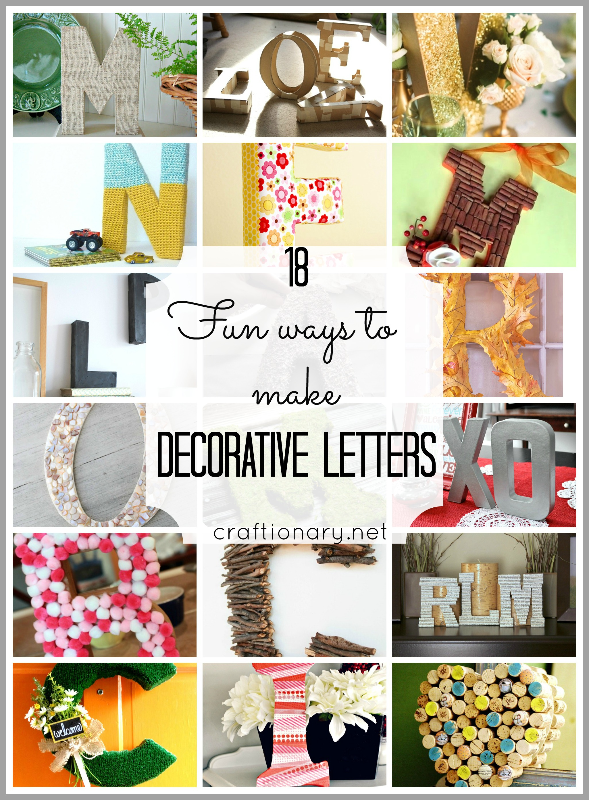 18 ways to make decorative letters easy and creative