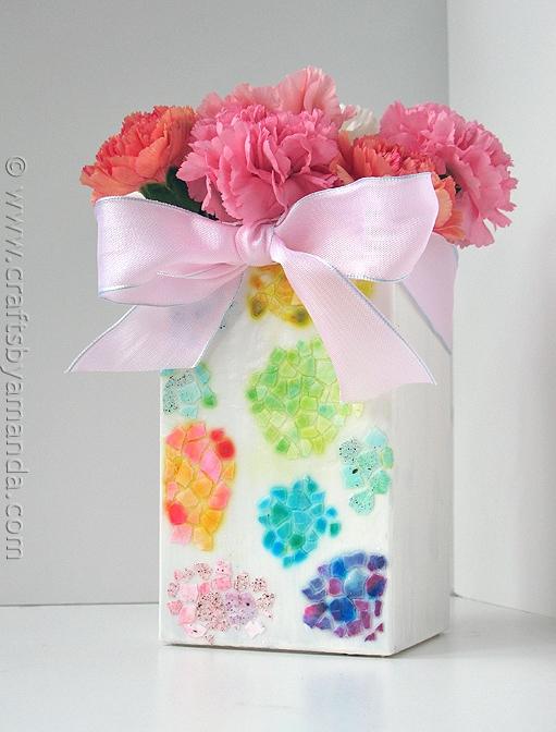 mosaic DIY vases