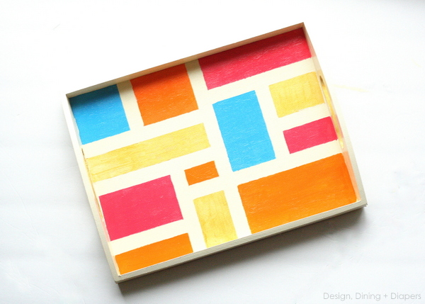 painted DIY tray tutorial