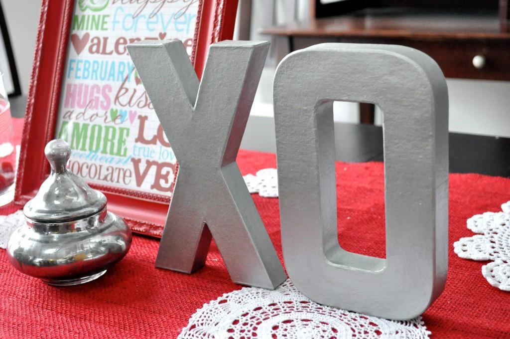 painted faux letters