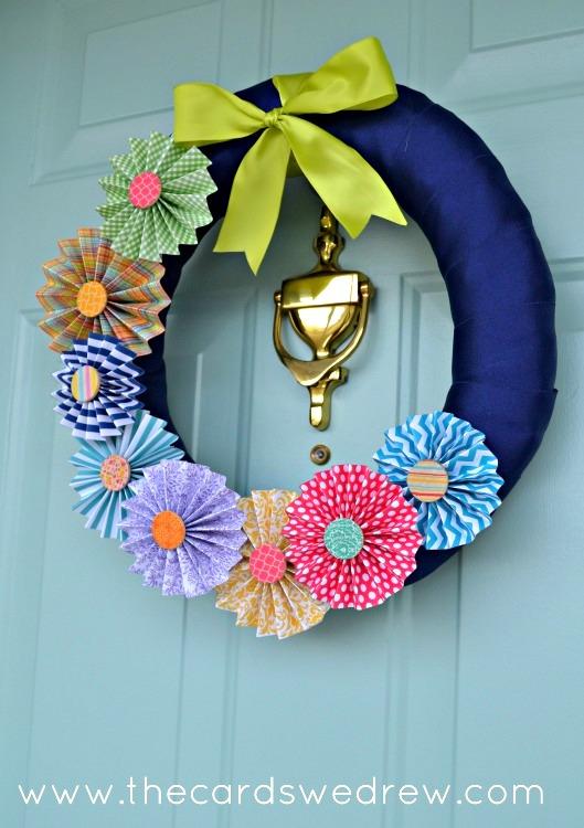 DIY pinwheel wreath