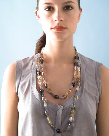 handmade stones necklace
