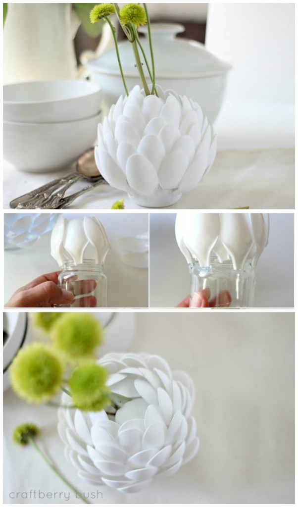 spoons DIY vase
