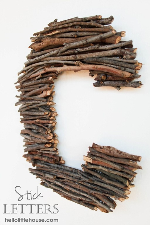 sticks covered letters