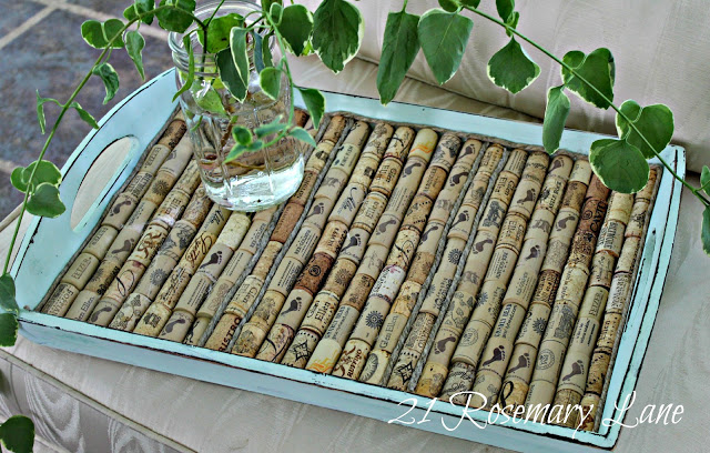 wine cork tray tutorial