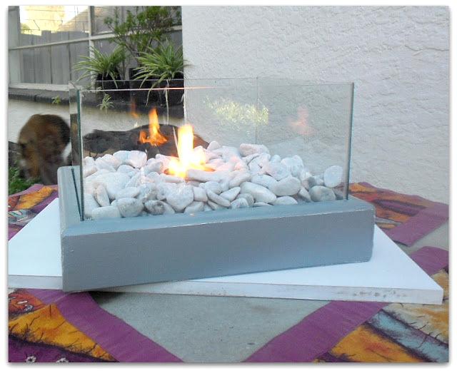 DIY fire feature