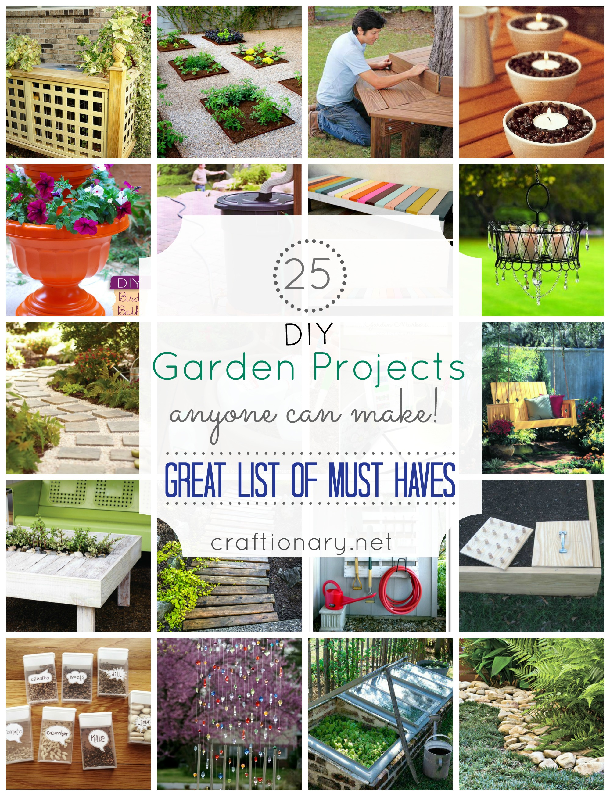 Craftionary for Homemade garden decor crafts