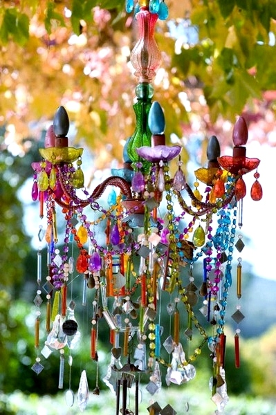 DIY GLASS PAINT CHANDELIER