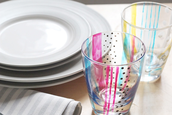 DIY STAINED GLASS CUPS