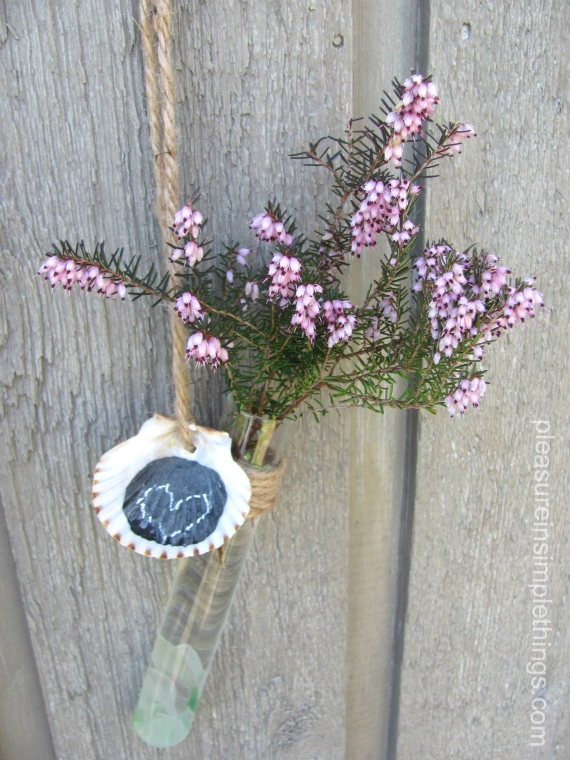DIY test tube flower vase