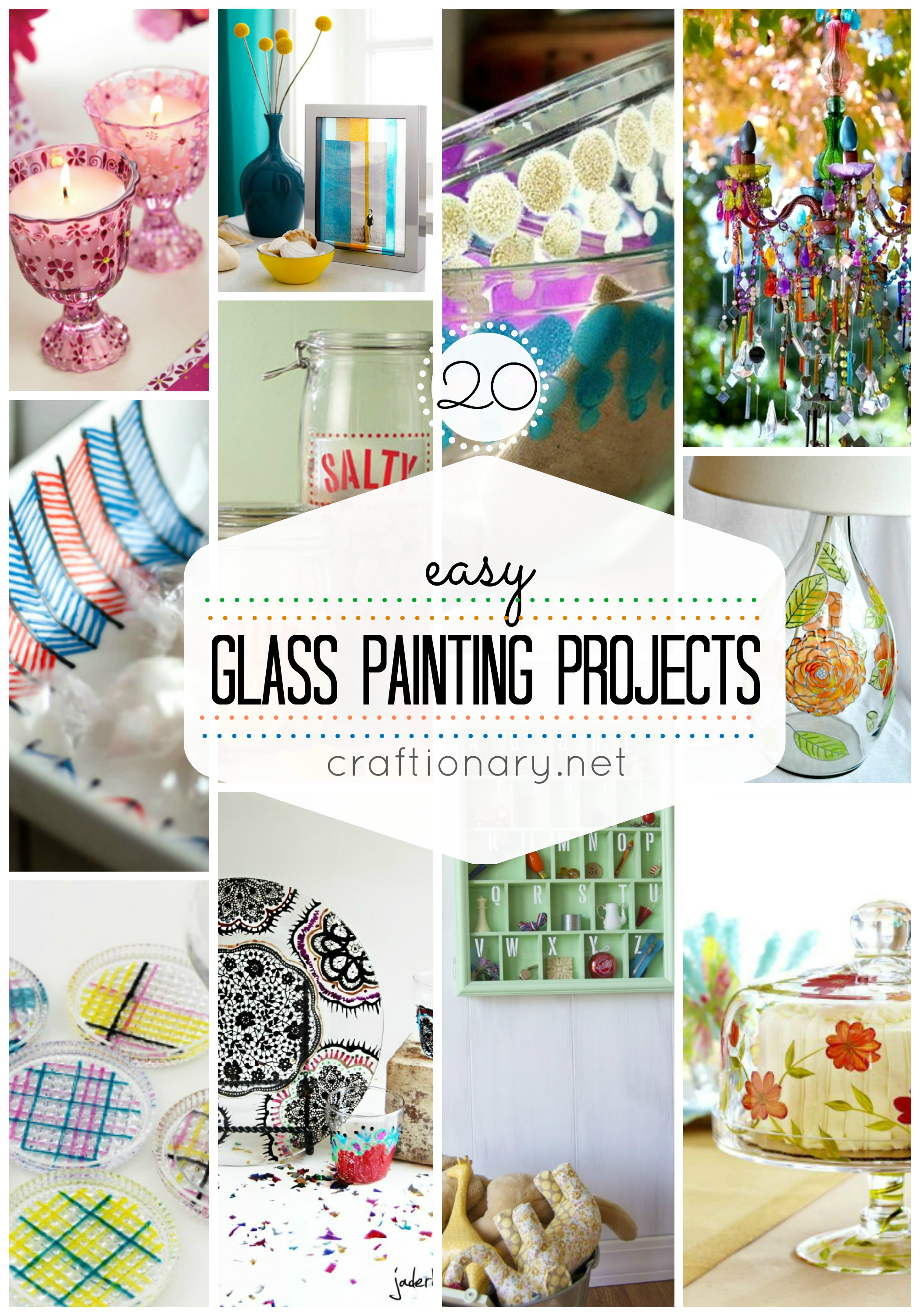 easy glass painting ideas