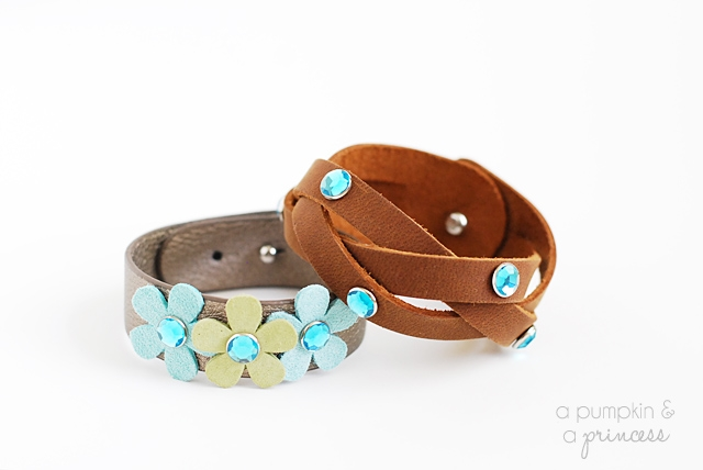 DIY leather braid bracelet
