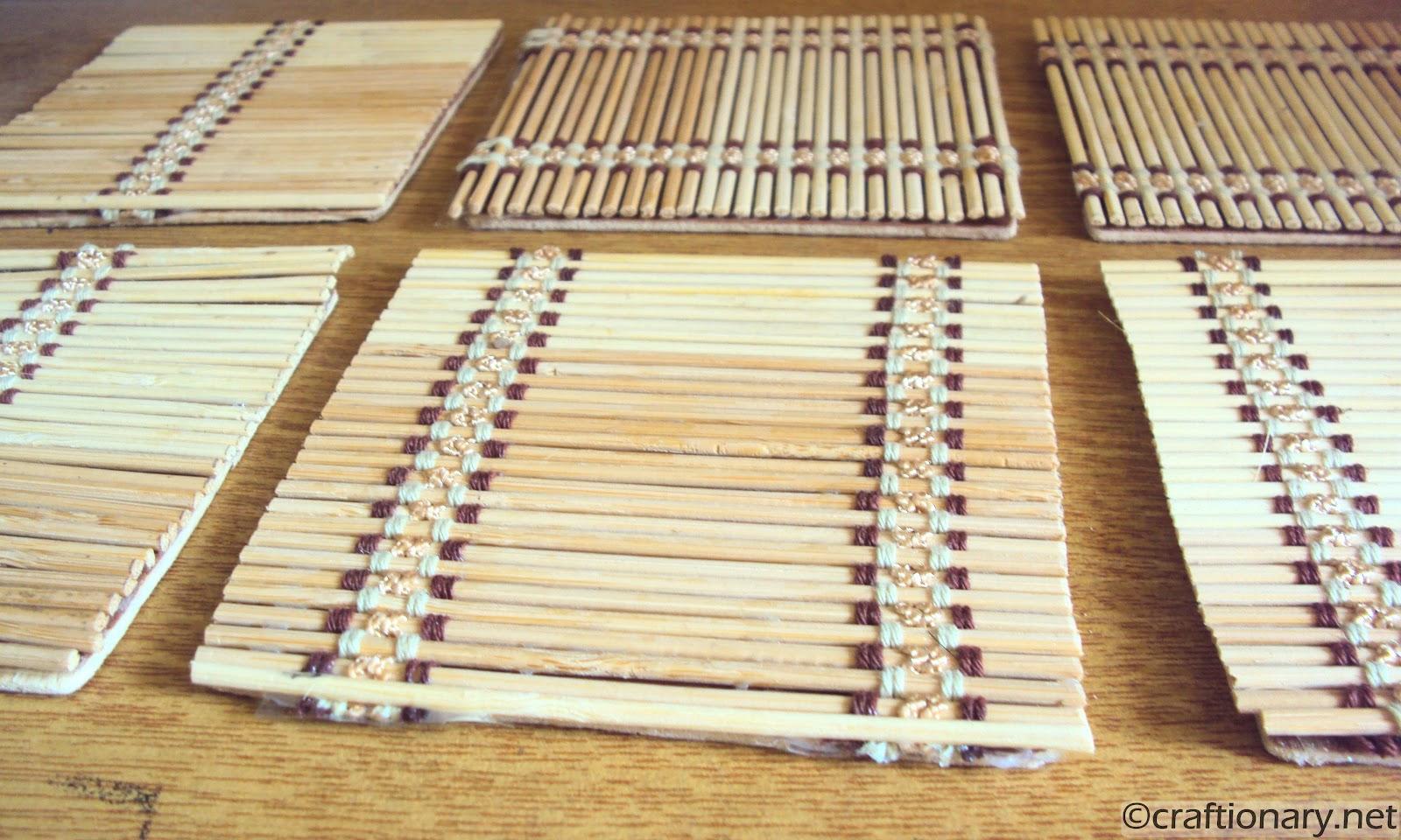 bamboo coasters tutorial