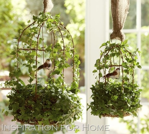 burlap sticks bird cage