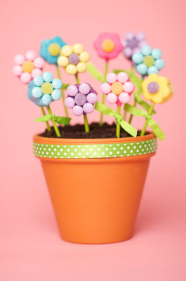 cake pops flower pop