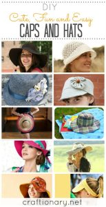 12 Caps Hats for women (DIY straw, bucket and crochet hat/ fedora)