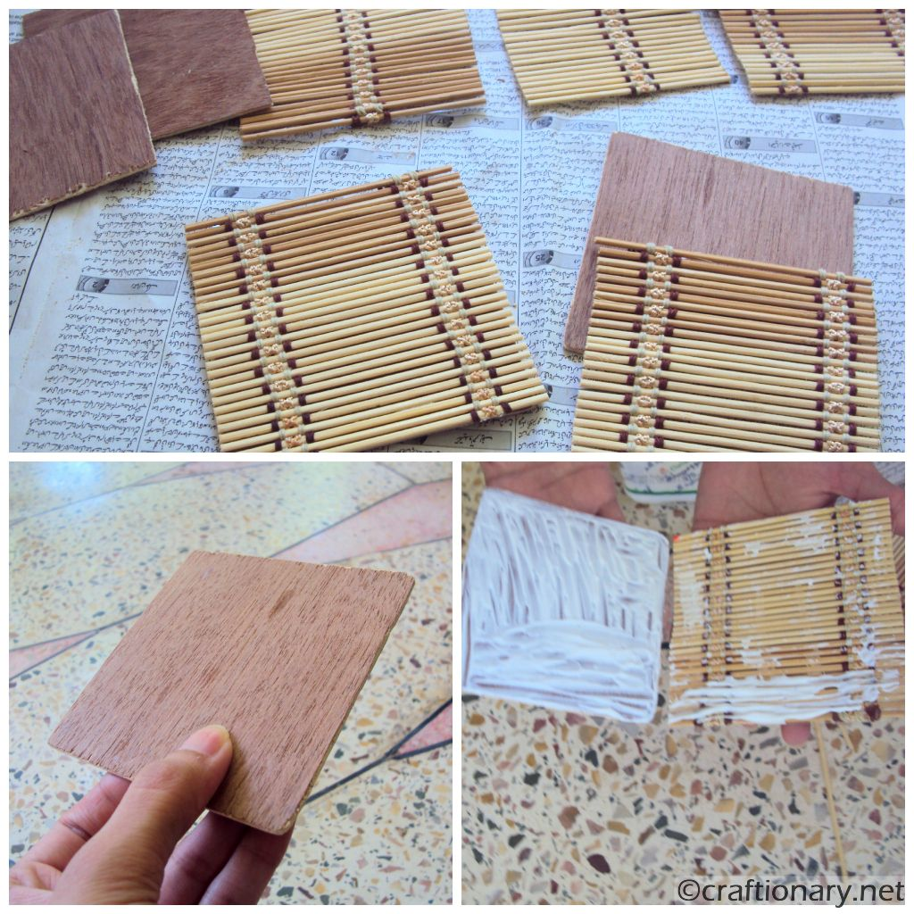 coasters bamboo and plywood