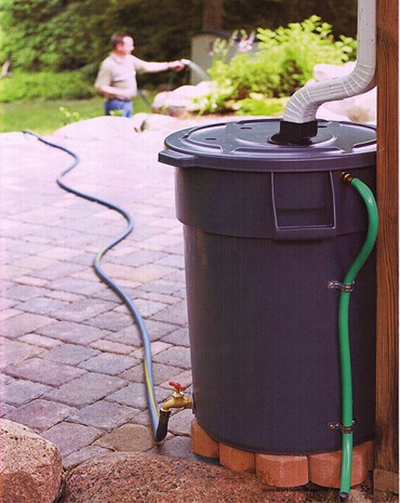 DIY garden water barrel