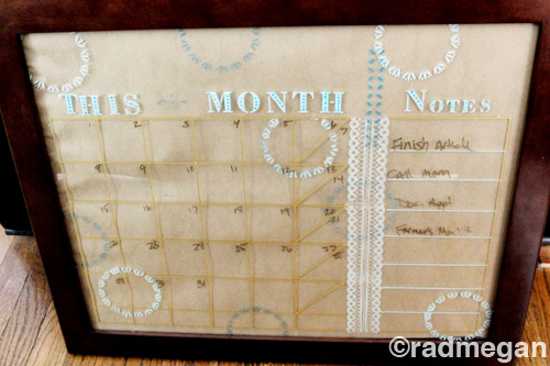 DIY GLASS PAINTING CALENDAR