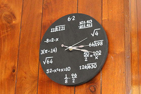 make a DIY math clock