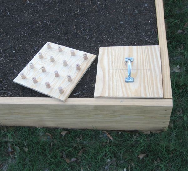 DIY planting holes idea