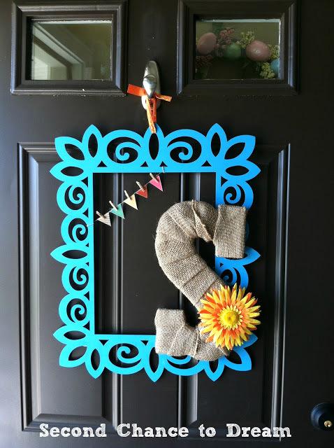 DIY spring door hanging